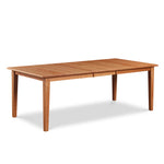 Shaker style cherry wood extension dining table with butterfly leaf