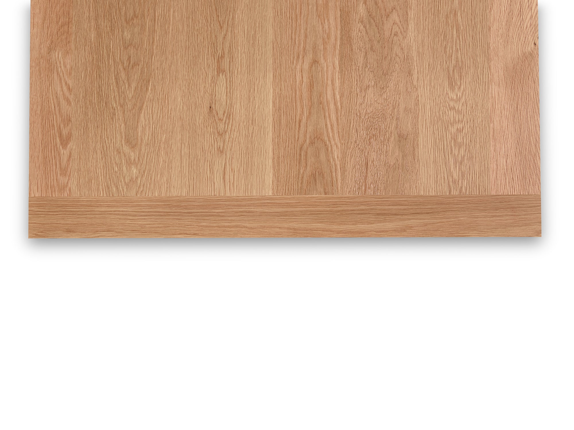 Detailed look of breadboard ends on Revelry dining table