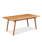 Mid-century Scandinavian rectangle dining table with angled legs in solid cherry wood