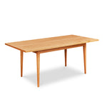 Solid top Shaker inspired dining table made of cherry wood from Maine's Chilton Furniture Co.