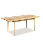 Solid top Shaker inspired dining table made of solid maple wood from Maine's Chilton Furniture Co.