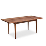 Solid top Shaker inspired dining table made of solid walnut wood from Maine's Chilton Furniture Co.