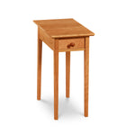 Simple rectangular Shaker Side Table, built in cherry with drawer and square tapered legs