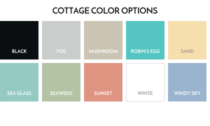 10 swatches of cottage color options