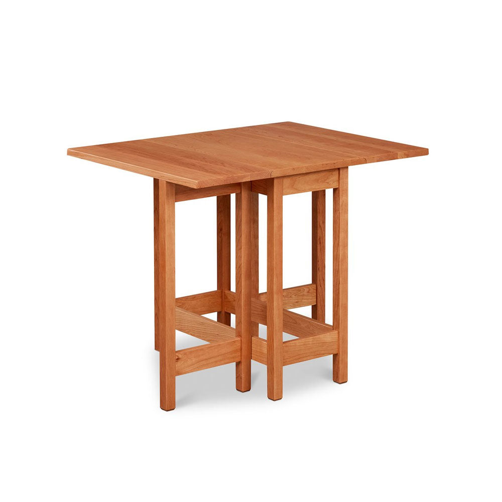 Small gateleg dropleaf table built in solid cherry wood