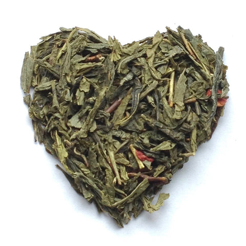 Long Island Strawberry -Loose Leaf Green Tea