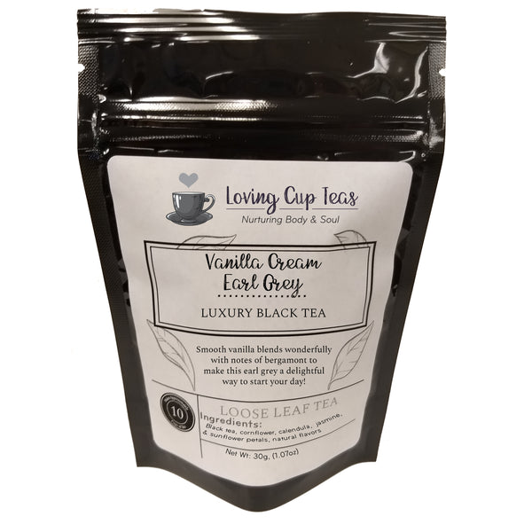 Vanilla Cream Earl Grey - Loose Leaf Black Tea