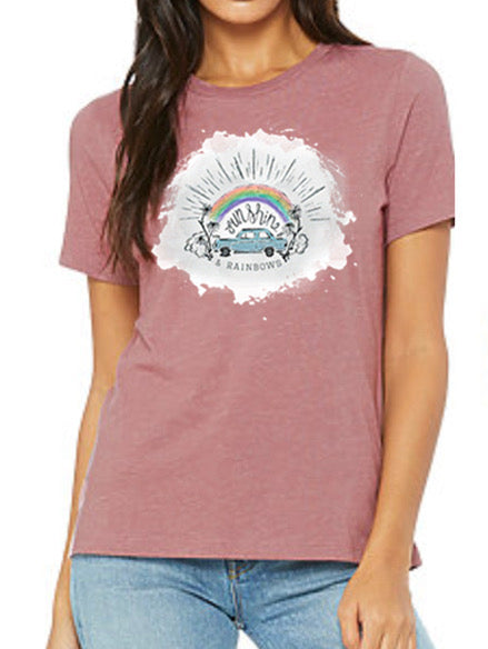 Sunshine & Rainbows Women's T-Shirt - Mauve