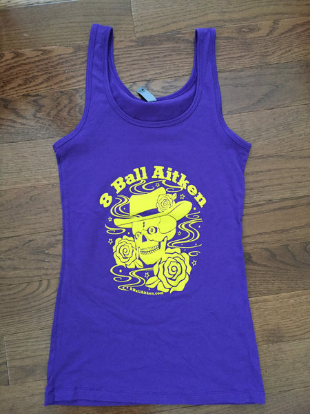 Women's Purple Skull Tank-top