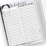 Audiobooks Tracker Notes Page Kit
