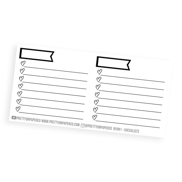 Checklist Boxes - Build Your Own Notes Kit