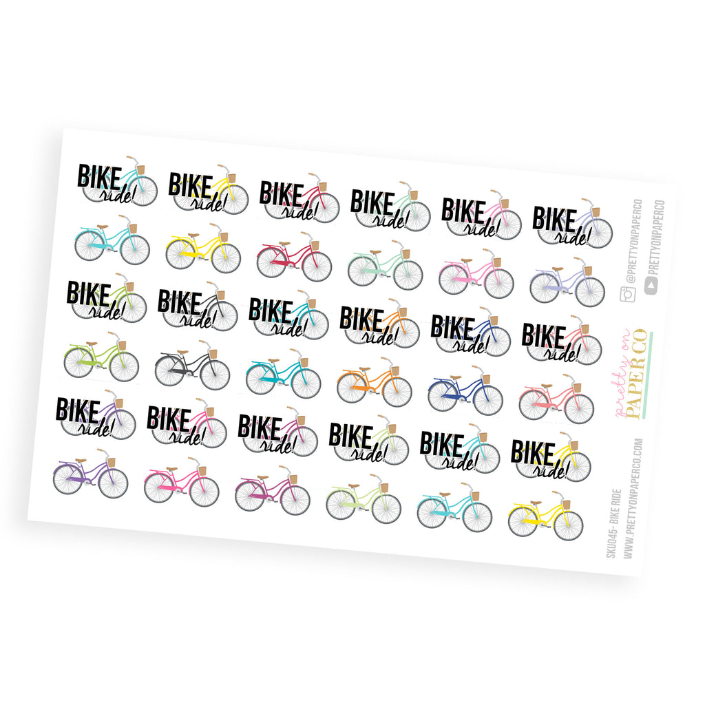 Bike Ride Stickers