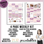 Caffeinated Cats Vertical Weekly Kit Printable