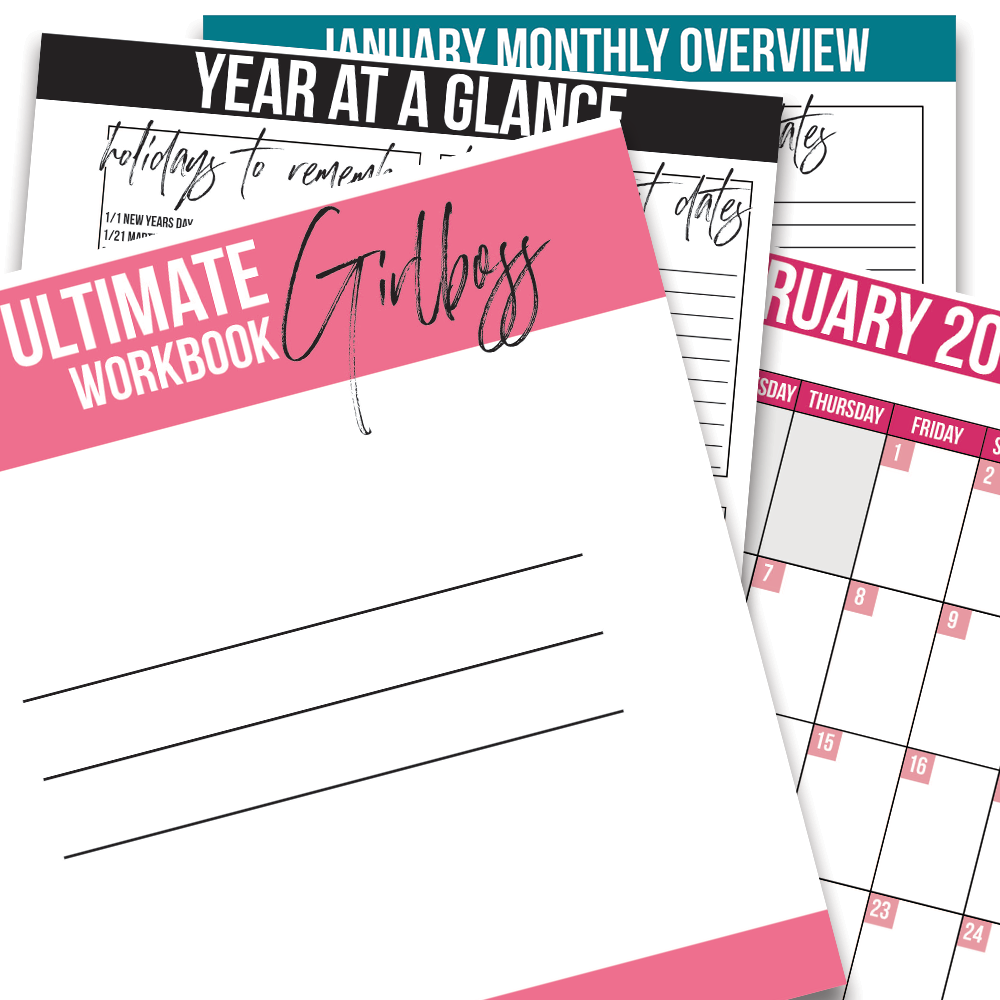 The Ultimate Girlboss Workbook (Printable)