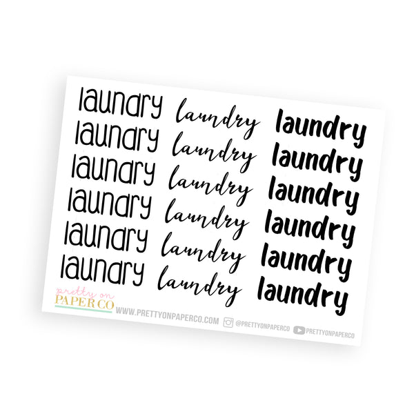 Laundry - Typography Stickers