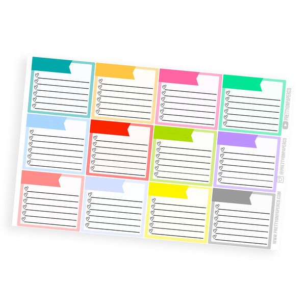 Monthly View Blank Checklist Boxes
