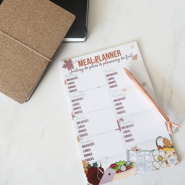 CLEARANCE Fall into Fitness Meal Planning Notepad (6x9)