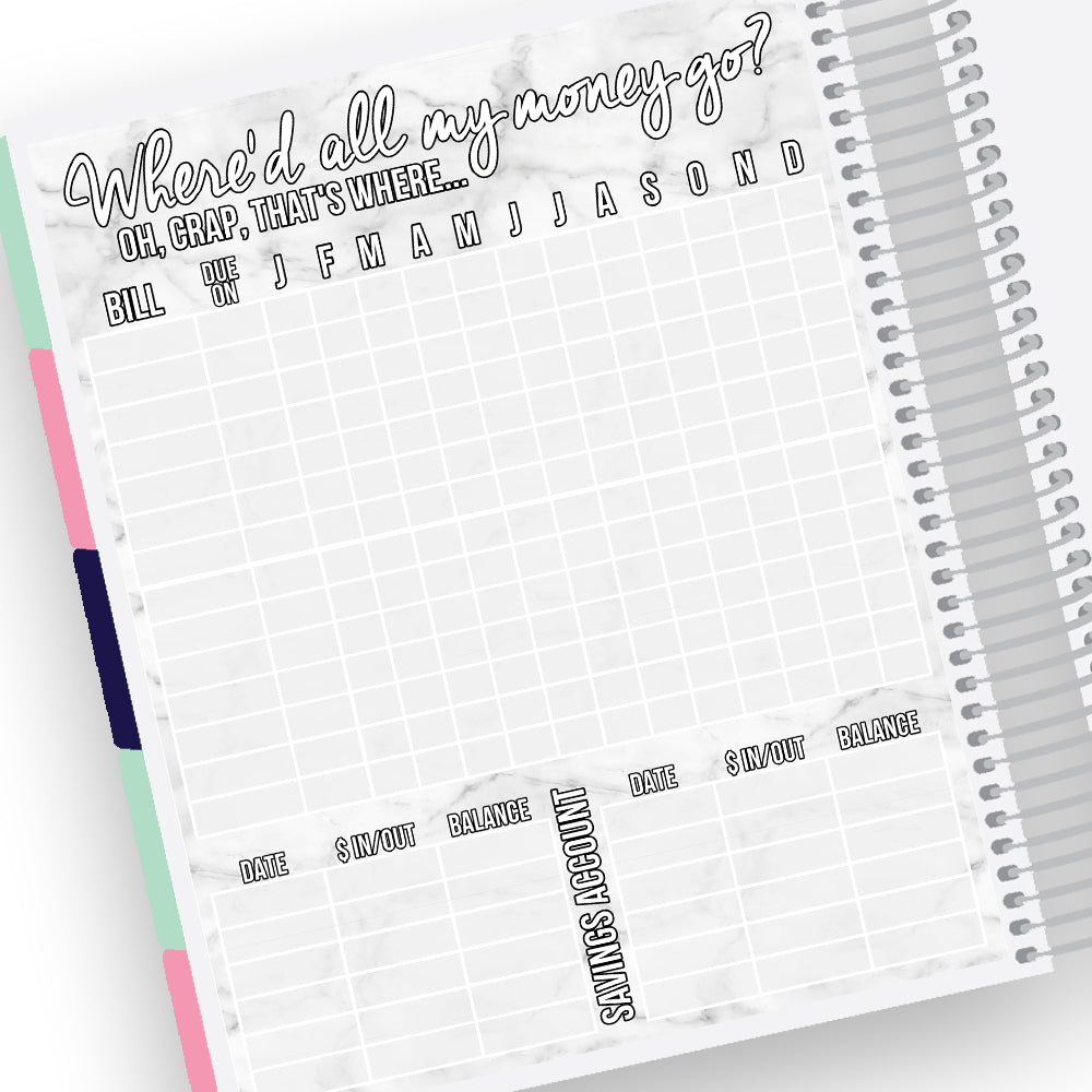 Bills Notes Page Kit