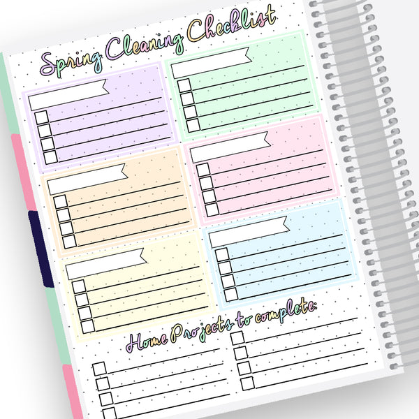 Spring Cleaning Notes Page Kit
