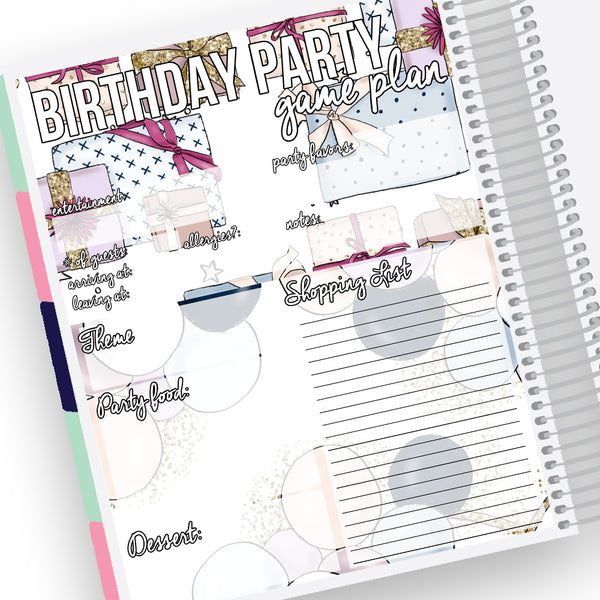 Birthday Party Planning Notes Page Kit