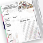 Dinner Party Planning Notes Page Kit