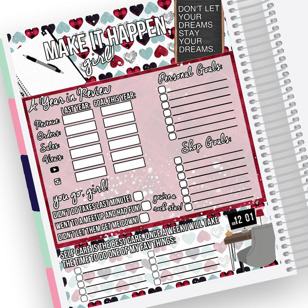 Shop Goal Setting Notes Page Kit