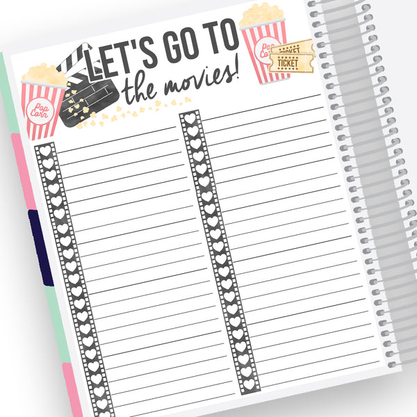 Movies Tracker Notes Page Kit