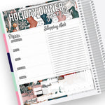 Holiday Dinner Planning Notes Page Kit