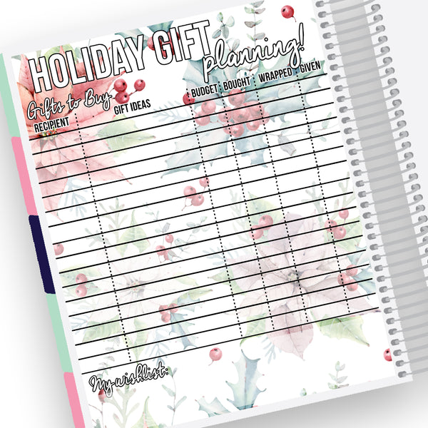 Holiday Gift Planning Notes Page Kit