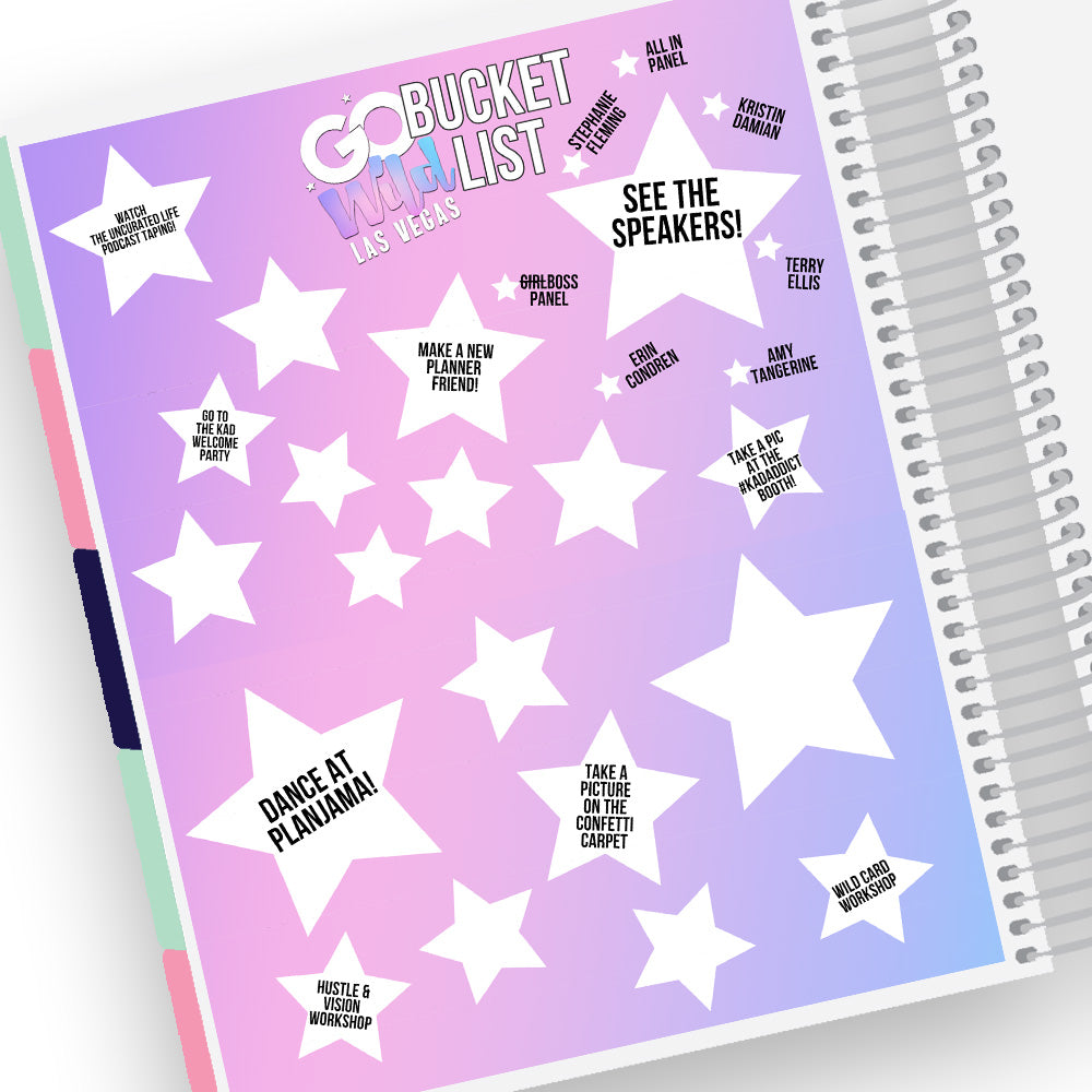 Go Wild Bucket List Notes Page Kit