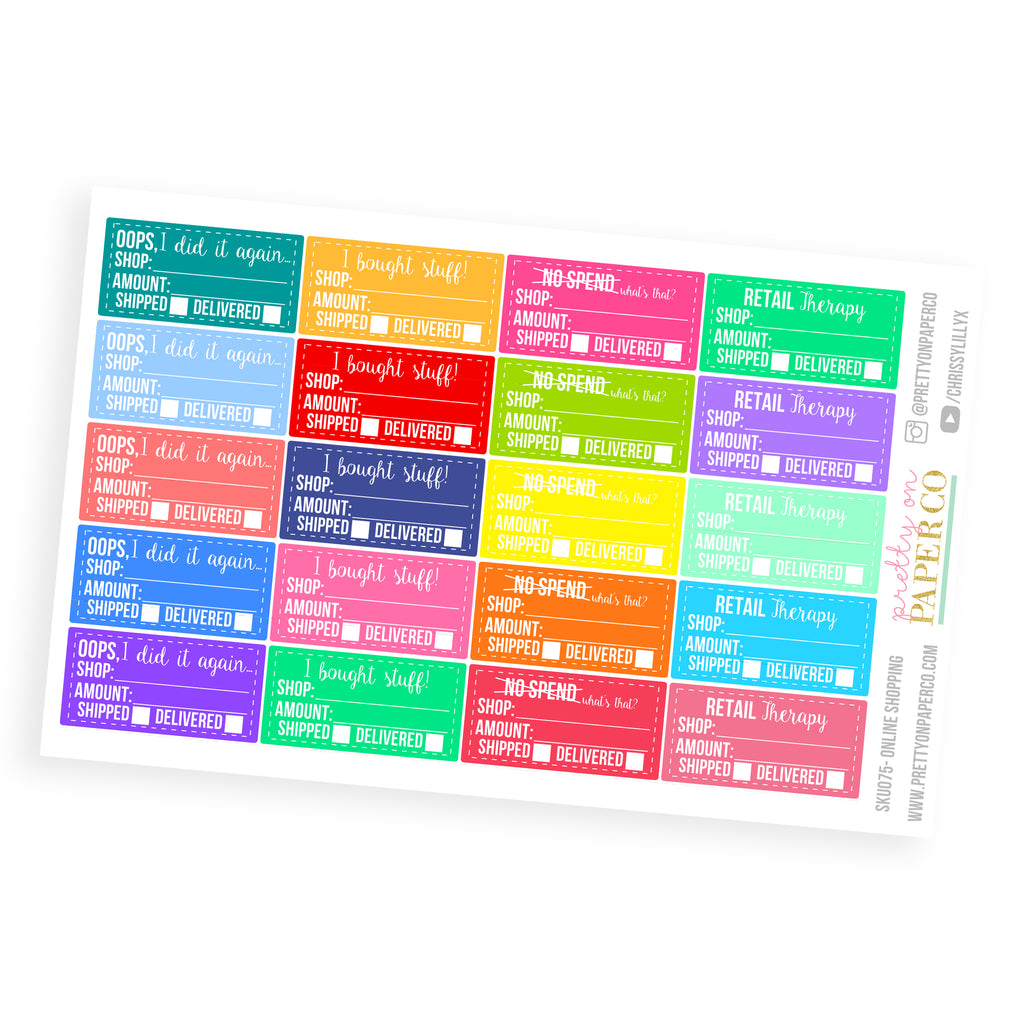 Online Shopping Boxes - Planner Stickers