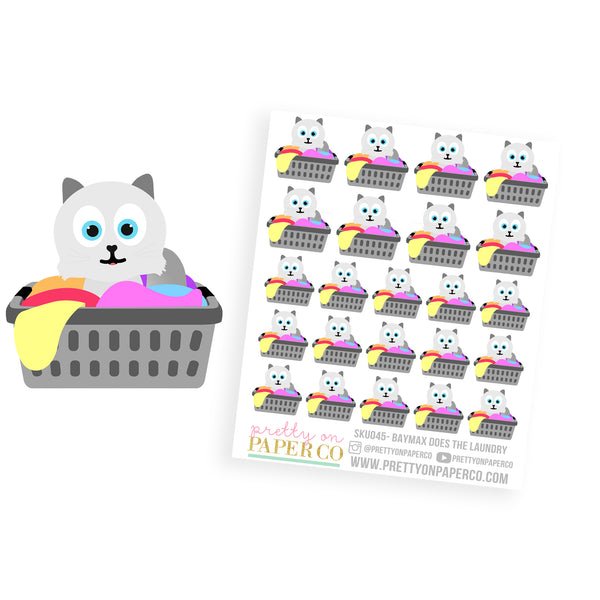 Baymax Does the Laundry - Planner Stickers