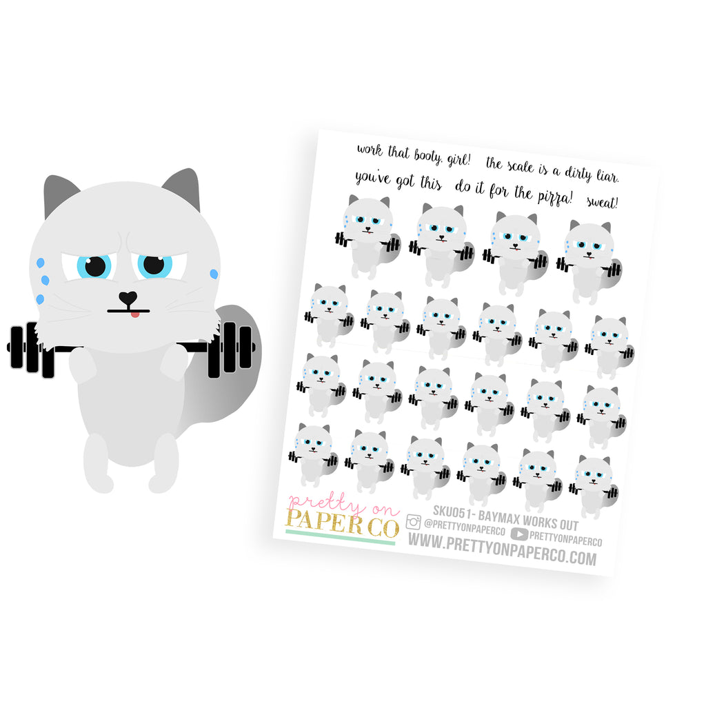Baymax Works Out - Planner Stickers
