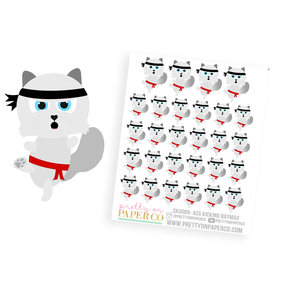 Ass Kicking Baymax - Planner Stickers