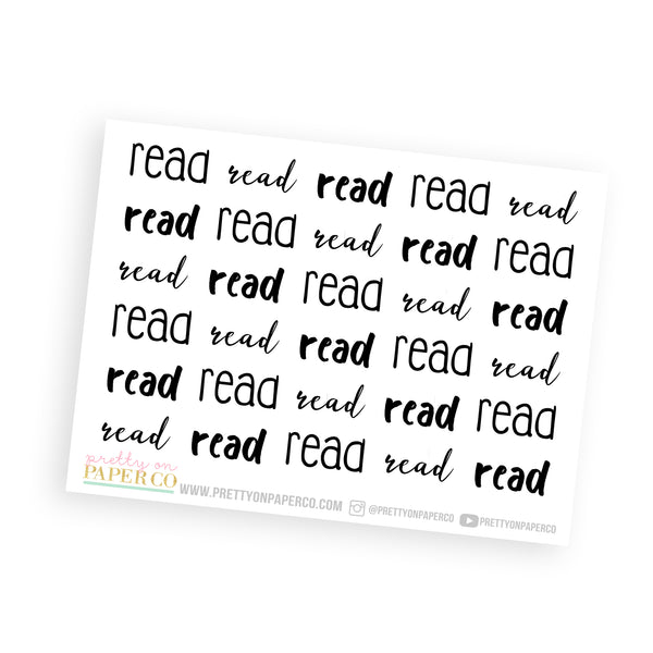 Read - Typography Stickers