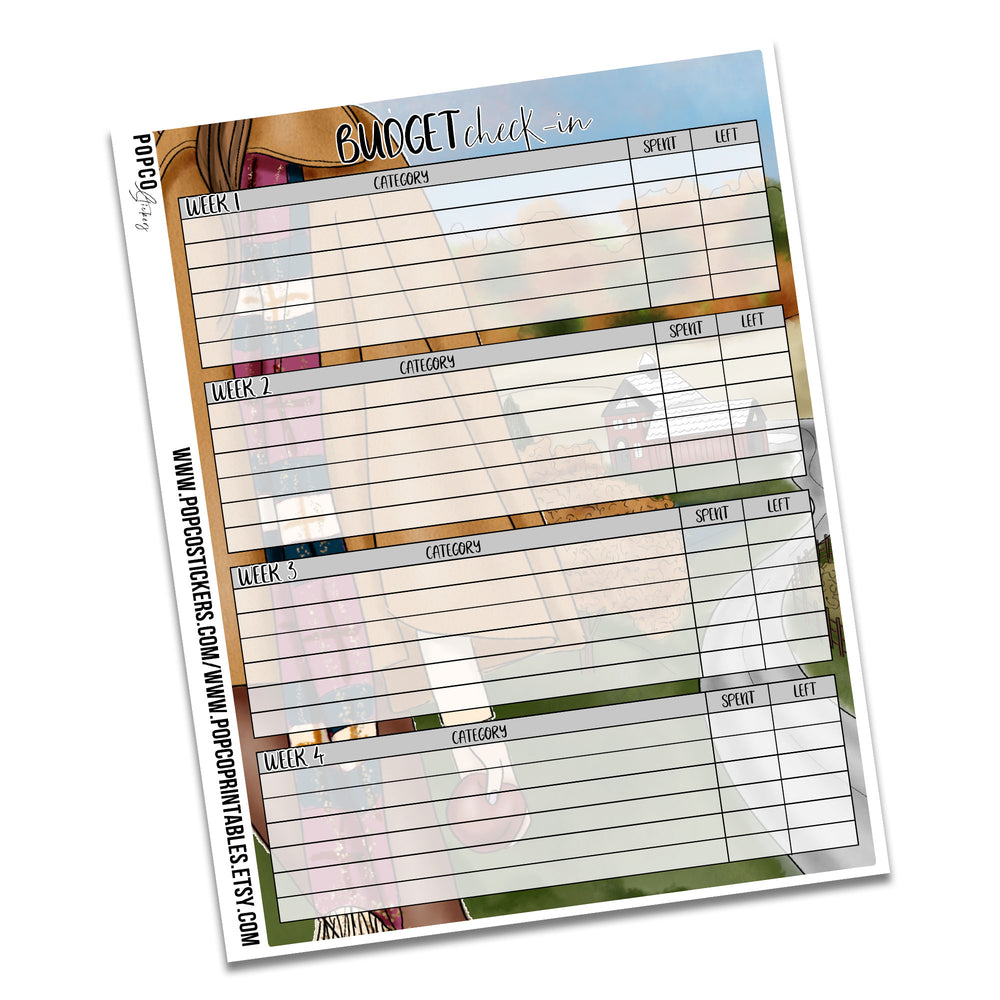 September Budgeting Notes Pages Pack!