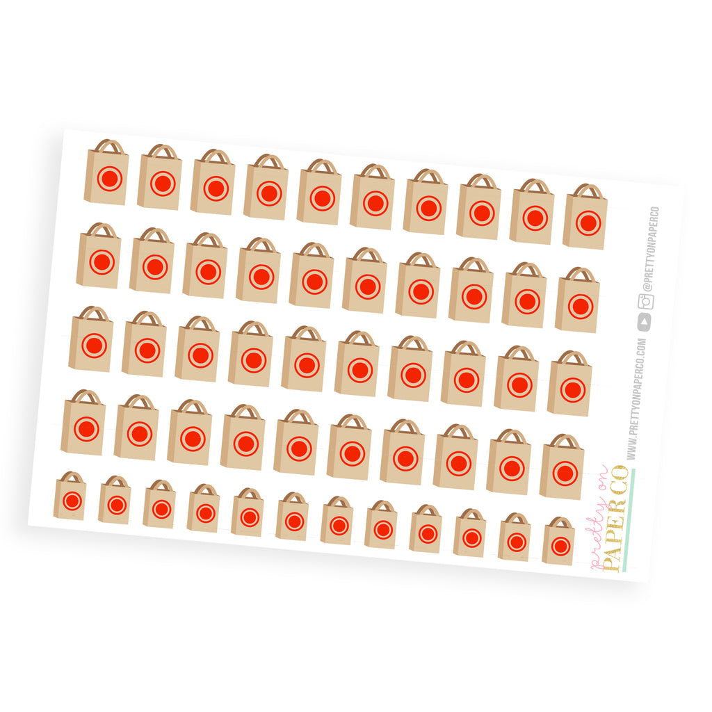 Target Shopping Bags- Planner Stickers