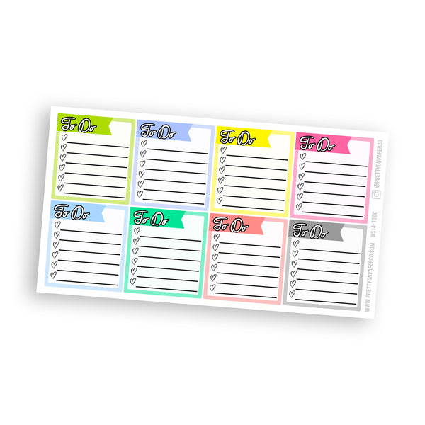 To Do List Sidebar Stickers