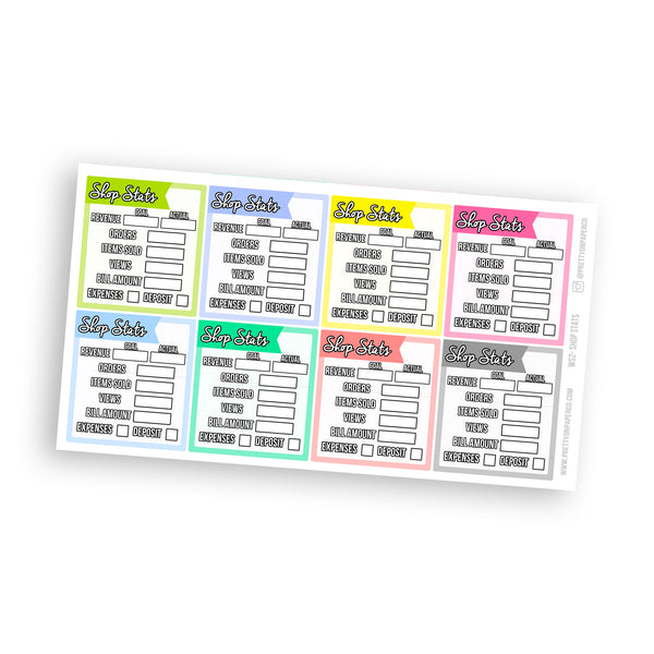 Shop Stats Sidebar Stickers