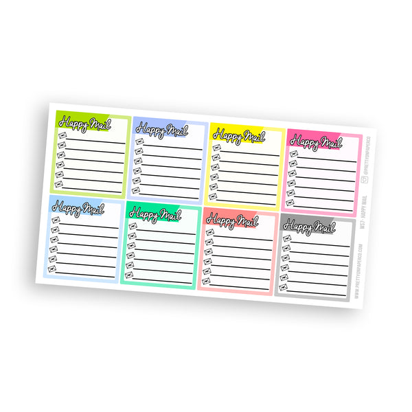 Happy Mail Sidebar Stickers