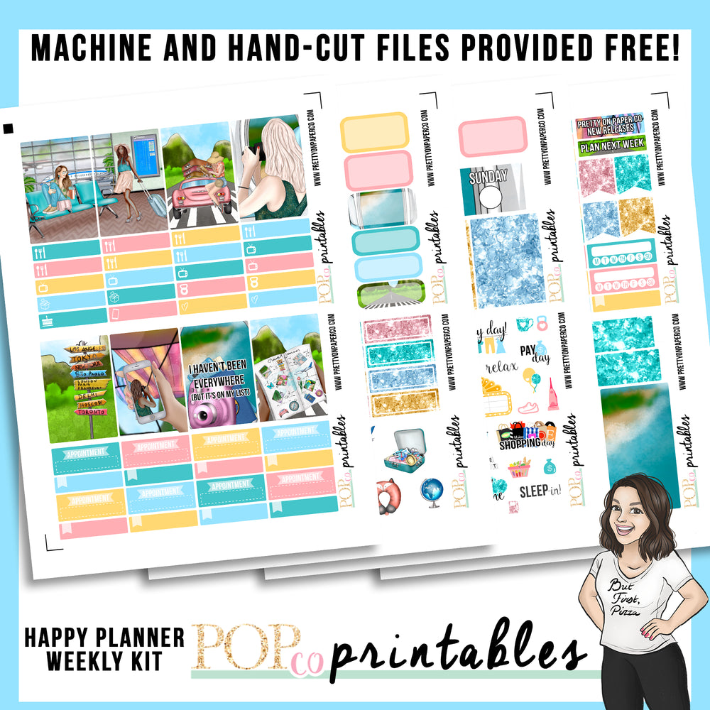 Wanderlust Happy Planner Weekly Kit Printable