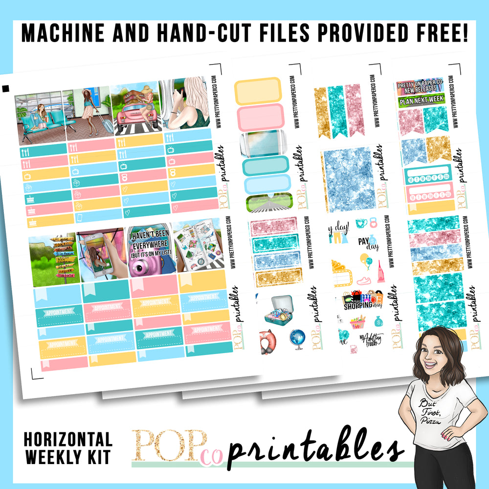 Wanderlust Horizontal Weekly Kit Printable