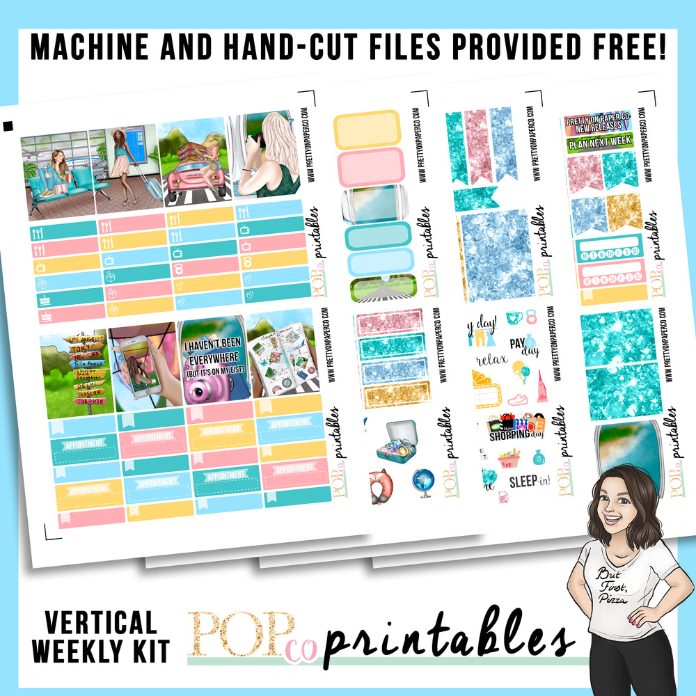 Wanderlust Vertical Weekly Kit Printable
