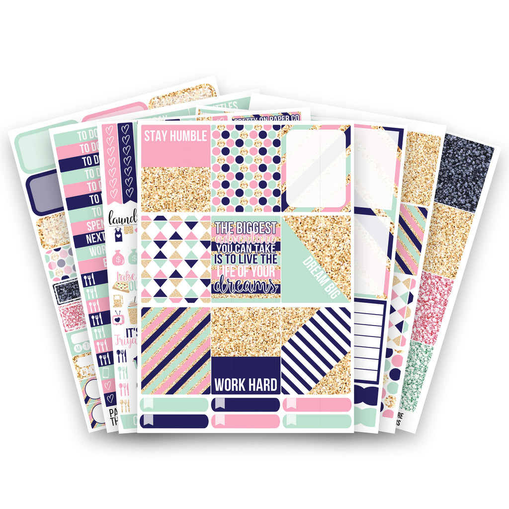 POPco Signature No White-Space Weekly Kit - Planner Stickers