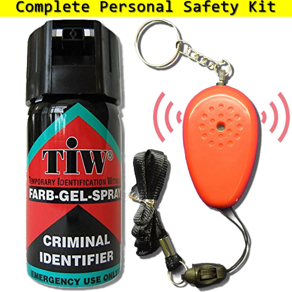 Farb Gel Red Dye Self Defence Personal Security / Panic Rape Attack Alarm 120DB - Bunjey