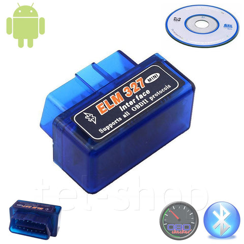 Mini ELM327 OBD2 V1.5 Car Bluetooth Scanner Android Auto Scan Diagnostic Tool UK - Bunjey