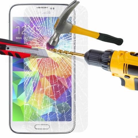100% GENUINE TEMPERED GLASS FILM SCREEN PROTECTOR for SAMSUNG GALAXY S5 NEW UK - Bunjey