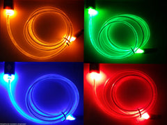 1M LED GLOW FADE MICRO USB DATA SYNC CHARGER CABLE LEAD FOR SONY SAMSUNG HTC - Bunjey