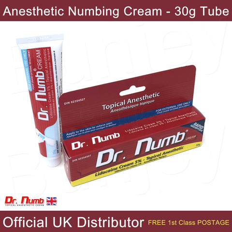 Dr Numb Anesthetic Numbing Cream 5% Lidocaine for Tattoo, Piercing, Laser Treatments, Needles - Bunjey
