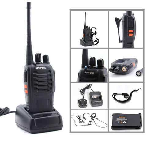 Baofeng BF-888S UHF 400-470 MHz Walkie Talkie Two Way Radio + Free Earpiece UK - Bunjey